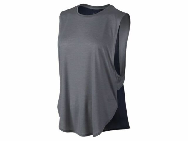 5975f097 Women's Nike Elevated Sleeveless Tee Size XL 726098 022 Grey Obsidian | eBay
