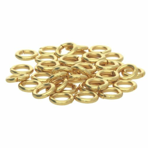 6 mm poids lourd Open Jump Ring or 9 ct Solide Bijoux Making Simple Anneau!!!