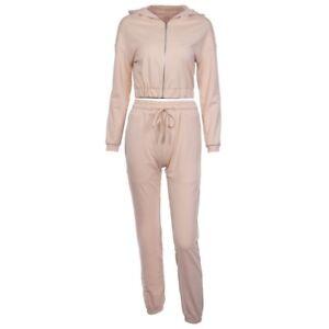 dd7e90ae9 Details about Sexy 2 Piece Outfits Women Sport Crop Top Tracksuits  Sweatsuit Long Pants Set