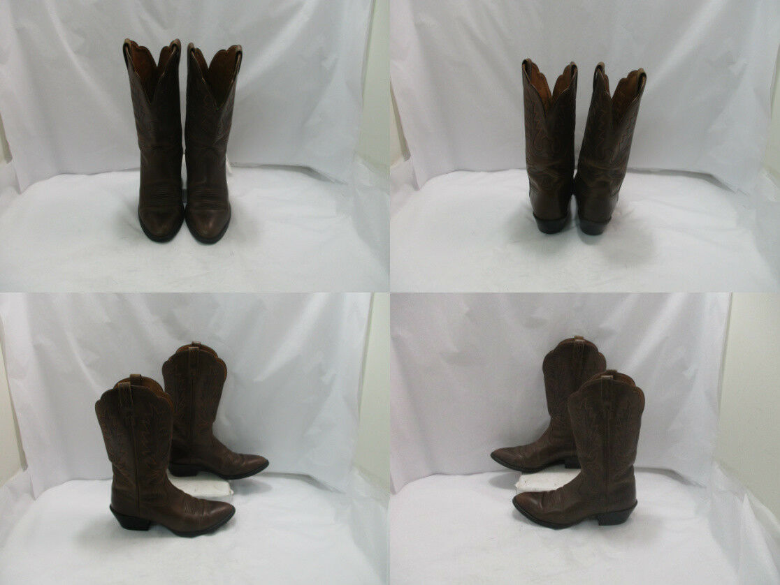 Ladies Ariat Brown Leather B Cowgirl Boots Sz: 7.5 B Leather (AB) d04735