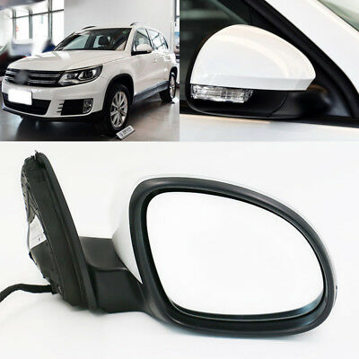Right Side Wing Mirror Glass With Heated Rearview Fit For VW Polo 6R 2010-17 New