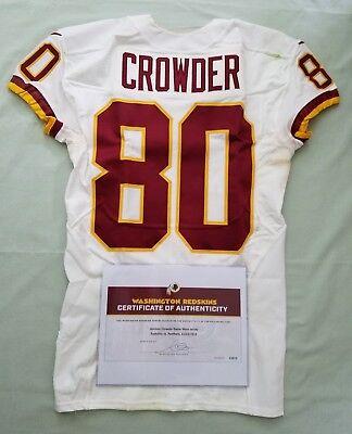 #80 Jamison Crowder - Redskins NFL Game Worn & Unwashed Jersey vs Panthers WCOA | eBay