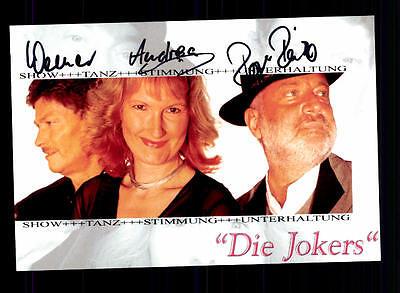 National Autogramme & Autographen Ausdrucksvoll Die Jokers Autogrammkarte Original Signiert ## Bc 73003