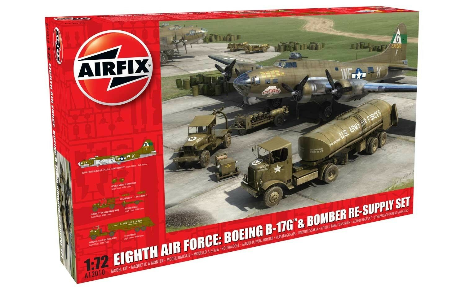 Airfix A12010 1 72 Eighth Air Force  Boeing B-17G™ & Bomber Re-supply Set