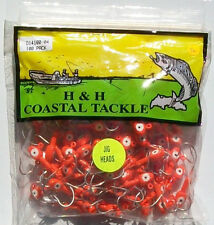 100 DOUBLE EYE 1//2 OZ RED SALTWATER JIG HEADS