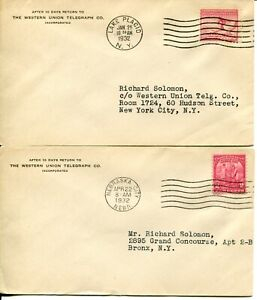 USA-716-717-FDC-First-Day-Cover-Western-Union-Telegraph-Postage-Collection