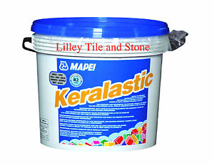 Details about Mapei Keralastic Grey 5kg Tile Adhesive for use on Metal,  Wood, PVC, and Rubber