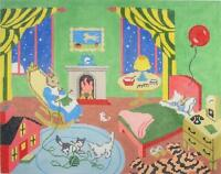 goodnight Moon Storybook By Silver Needle Handpainted Hp Needlepoint Canvas