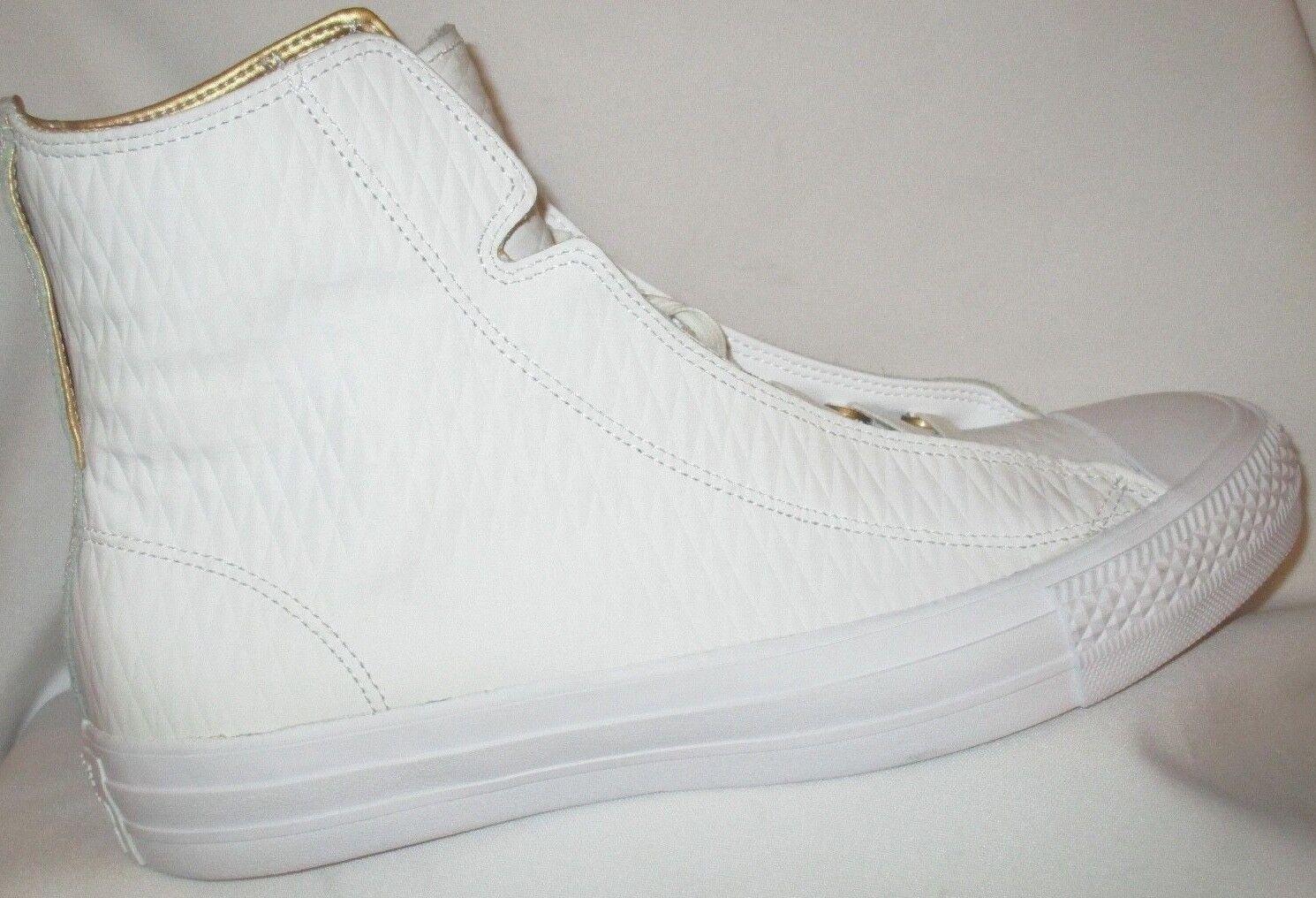 Para STAR hombres Cuero CONVERSE ALL STAR Para ALPHA Hi Blanco/Blanco Zapatos b34656