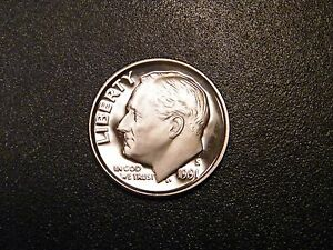 1991-S Proof Roosevelt Dime Deep Cameo!