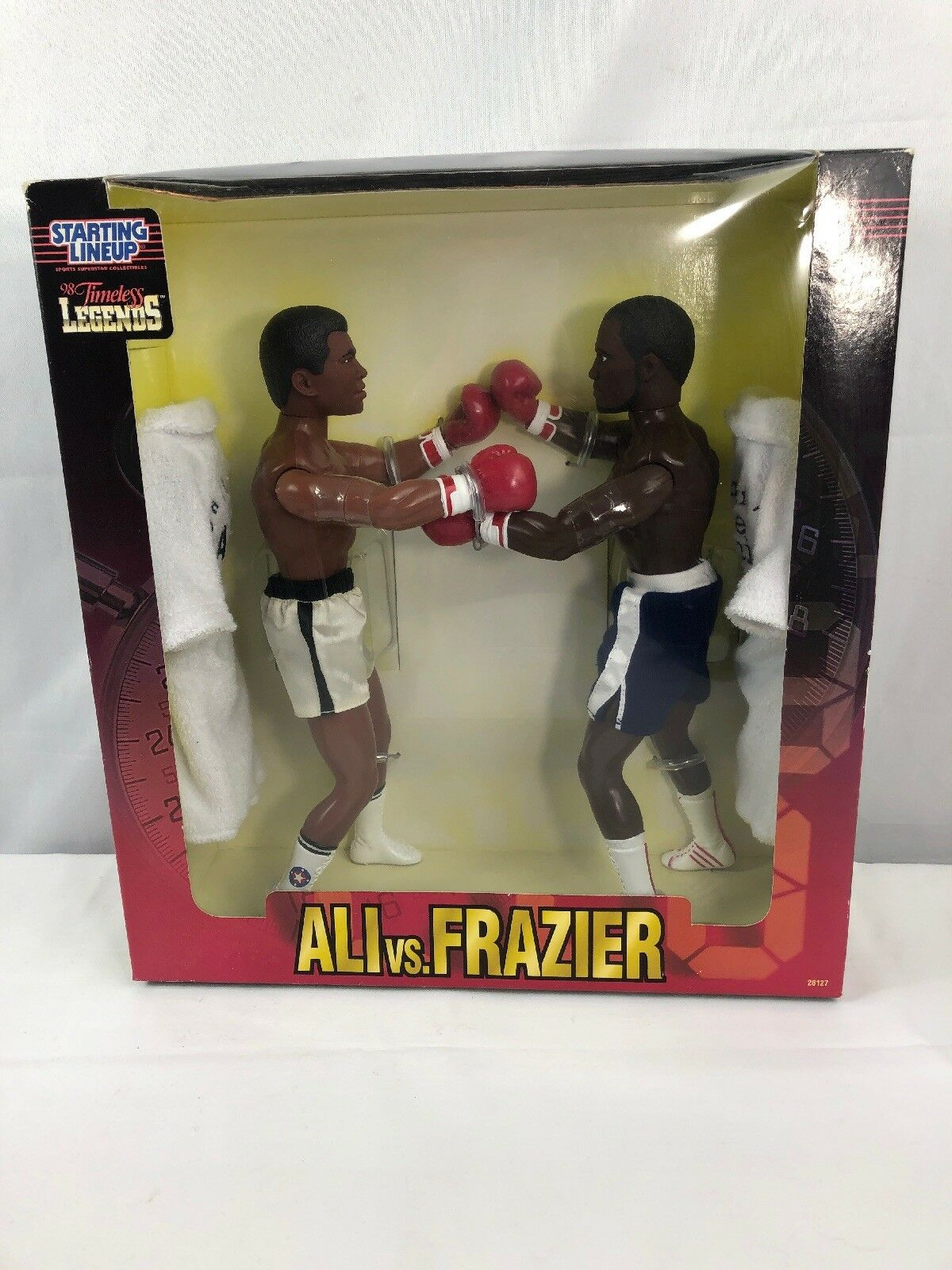 Muhammad Ali Vs Joe Frazier  Starting Lineup Boxing legends Neuf dans sa boîte 1998 12  Doll  connotation de luxe discret