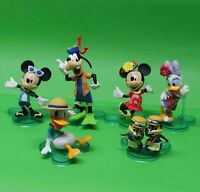"""NEW Disney LOT 6 Mickey Mouse and Donald Duck Minnie Mouse figurine 1""""-3"""" IN BOX"""