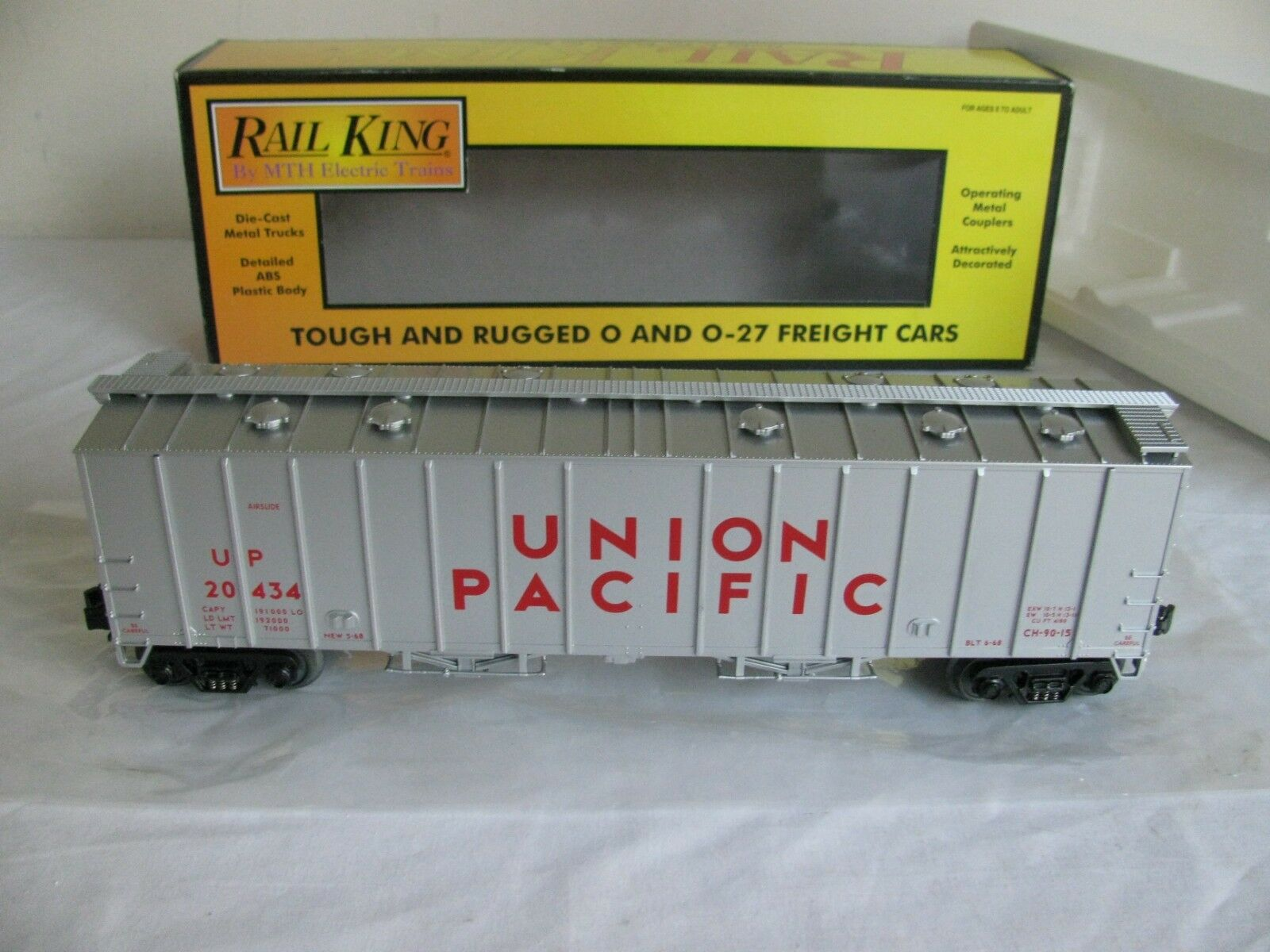 MTH Rail King O O-27 Scale Union Pacific Airslide Hopper Car EX