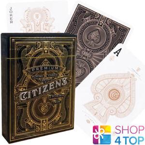 CITIZENS-THEORY-11-SPIELKARTEN-DECK-GOLD-MAGIE-TRICKS-VERPACKT-USA-NEU