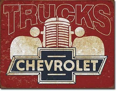 Chevy Truck Vintage Metal Sign Auto Garage Shop Chevrolet ...