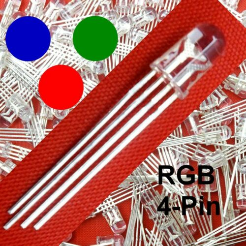 RGB LED 5mm Clear 4-Pin Common Anode quantity selectable D1