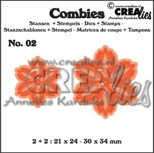 Crealies-Combies-CLCB02-Flower-B-Stanzschablone-amp-clear-stamp-SET
