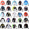 Casual Mens Cycling Jersey Long Sleeve Race Fit Riding Shirt 3 Pockets Garments