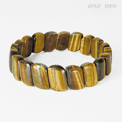 ONE ION POWER WAVE Tiger Eye Pure Ion Energy Balance Bracelet Stretch Band