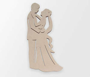 Wooden Shape Man and Woman Dancing, Wooden Cut Out, Wall Art, Home Decor