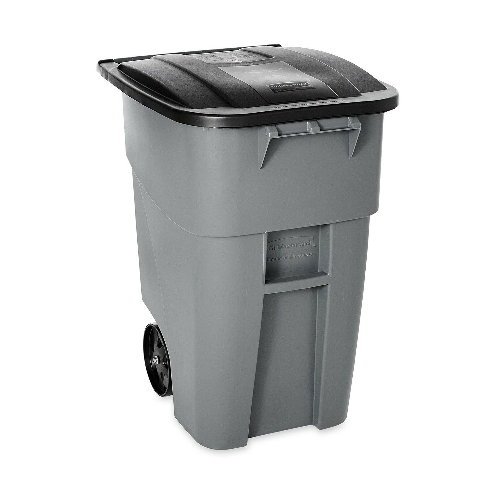 Rubbermaid Commercial BRUTE Recycler Rollout Trash Can with