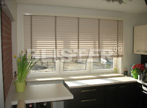 Quality Made to Measure 50 mm Silver Birch Wooden Venetian Blinds with Cords