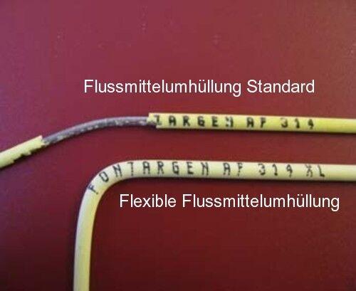 Abm teilflexible Enrobé type BF 2 bâton silberlot 55/% Argent 1,5 x 250 mm