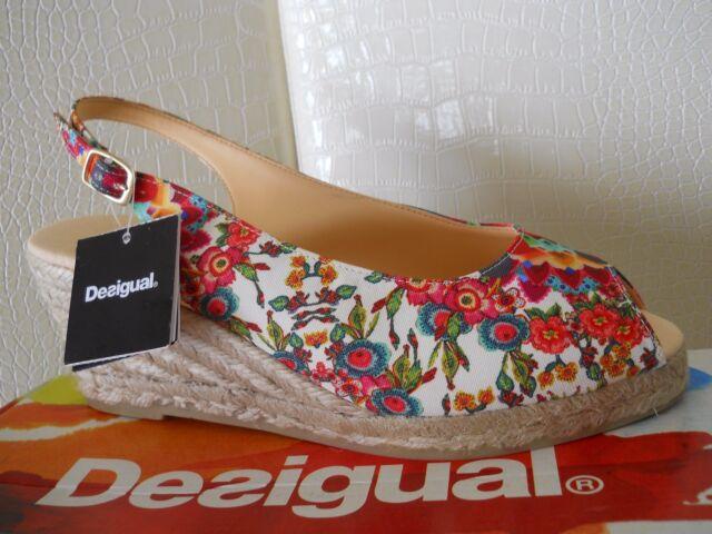 Desigual sandali donna con zeppa Shoes Lili tess pelle pu multicolor n.39 € dc4fe9cfbc2