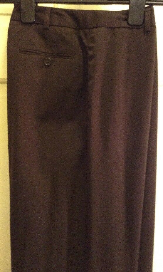 Brooks Bredhers Women's Petite Brown Dress Pant Size 8P 100% Wool Fully Lined