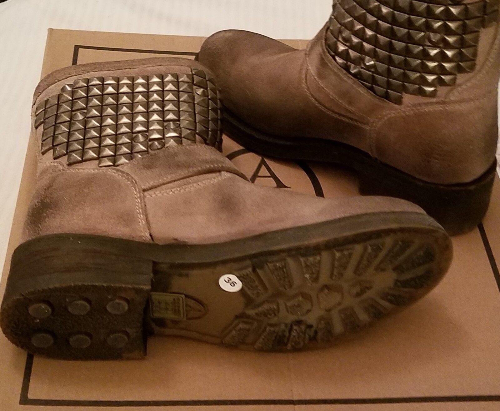 ASH Titan Clay Suede Leather Studded Ankle Biker Stiefel schuhe schuhe schuhe 36 (6M) BRAND NEW c274b1