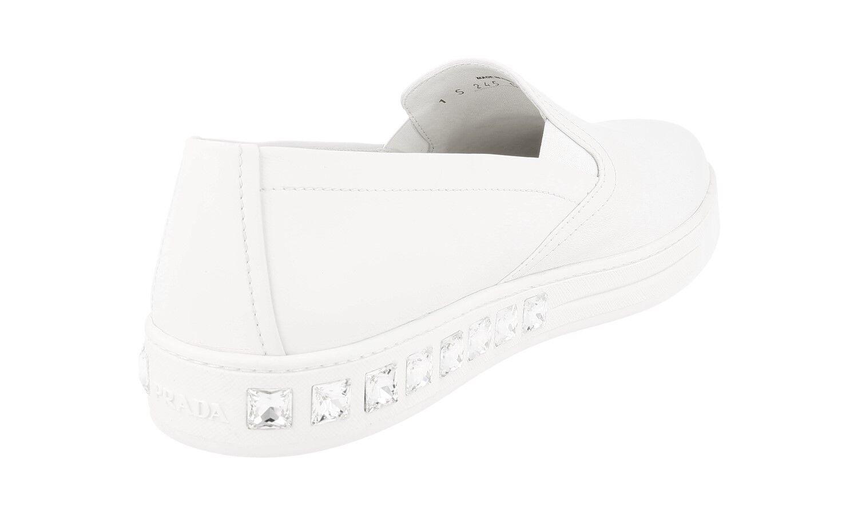 zapatos PRADA LUXUEUX NOUVEAUX 1S245G blancoHE NOUVEAUX LUXUEUX 41 41,5 UK 8 01d1cf