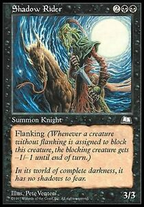 4x-Knight-of-the-039-Shade-Shadow-Rider-MTG-MAGIC-WL-Weatherlight-set-sail-Eng-Ita