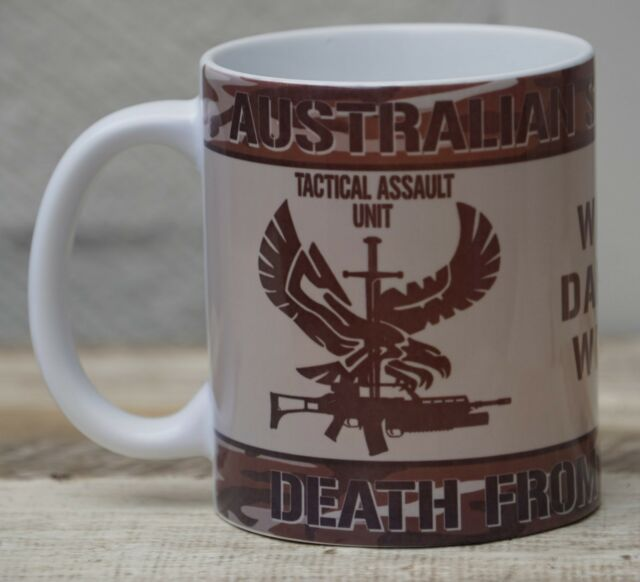 AUSTRALIAN SPECIAL FORCES TEA COFFEE MUG CUP WORKSHOP GARAGE OFFICE COOL GIFT
