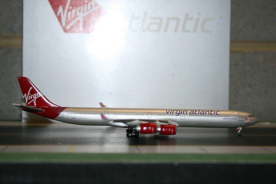 Gemini Jets 1 400 Virgin Atlantic Airbus A340-600 G-VSHY (GJVIR889) Die-Cast