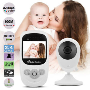 Camara-De-Seguridad-Monitor-2-4-034-LCD-color-bebe-Inalambrica-Audio-Video-canciones-de-cuna-Radio