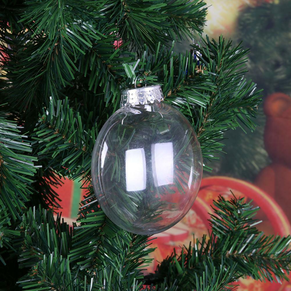 12-Count 2-Inch Fillable Plastic Clear Ball Ornament
