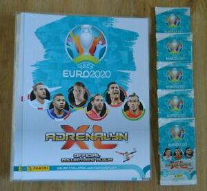 Panini-Adrenalyn-XL-Uefa-Euro-EM-2020-5-Booster-Sammelmappe-Sammelordner