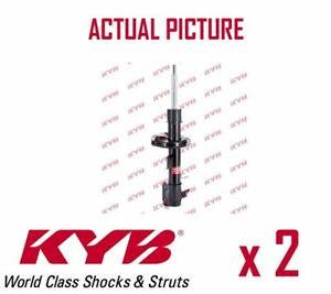 2-x-NEW-KYB-FRONT-AXLE-SHOCK-ABSORBERS-PAIR-STRUTS-SHOCKERS-OE-QUALITY-333752