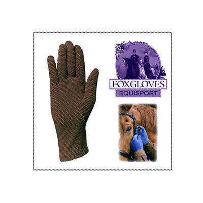 Medium FOXGLOVES Equestrian Grip Horse Riding Gloves NEW Gardening BROWN