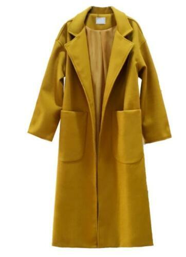 Coat Bælte Jacket Maxi Length Full Ull Outwear Trench G853 Kvinders Blend Sz Loose qXvIR