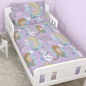 NEW DISNEY FROZEN CRYSTAL JUNIOR TODDLER COT BED DUVET QUILT COVER ...