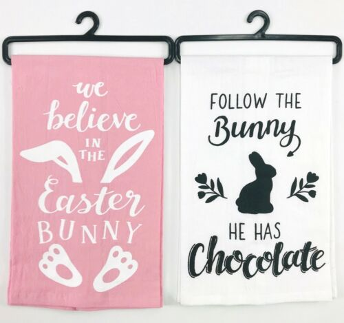 Easter Flour Sack Hand Kitchen Towels Cute Funny Bunny Humor