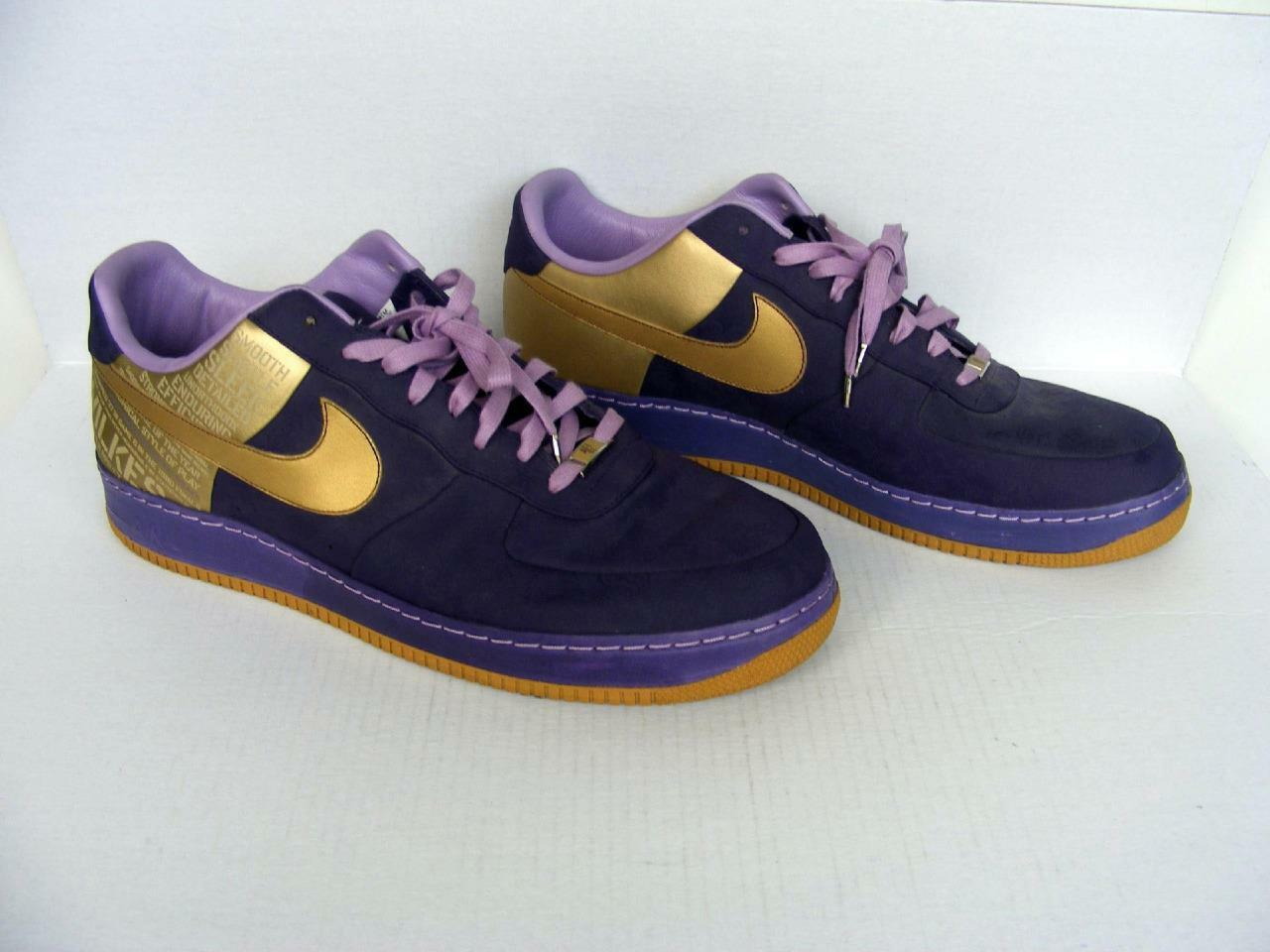 Nike Wilkes Scarpe 18 AF-1 Supreme Air Jordan Lakers Purple Gold Original Six '07