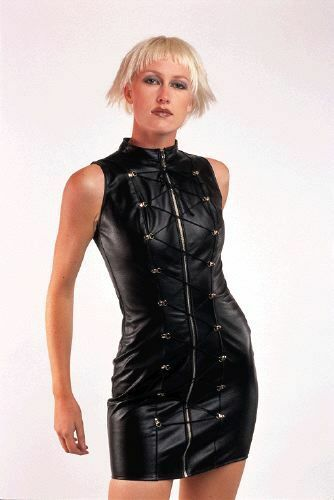 THE FEDERATION FAUX LEATHER  D.RING LACED DRESS ALL SIZES NEW PLUS SIZES