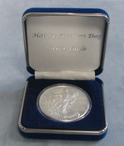 "UNC 2019 Silver Eagle in /""HAPPY MOTHER/'S DAY/"" Gift Box 1oz Silver"