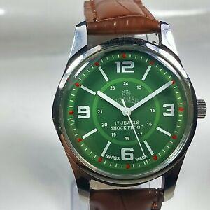 Vintage-Roamer-Mechanical-Hand-Winding-Movement-Mens-Wrist-Watch-AB542