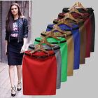 Fashion Vintage Women's Stretch High Waist Short Bodycon Skater Mini Skirt Dress