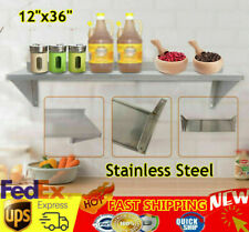 12 X 36 Commercial Restaurant Wall Shelf Kitchen Shelving Wall Mounted Silver