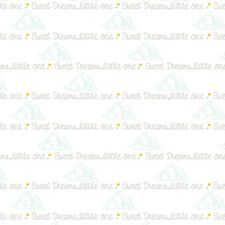 "Disney Dumbo Script ""Sweet Dreams Little One"" 100% cotton fabric by the yard"