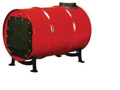US Stove BSK1000 30/55 Gal Cast Iron Barrel Stove Kit Includes Door, Chimney, Ba